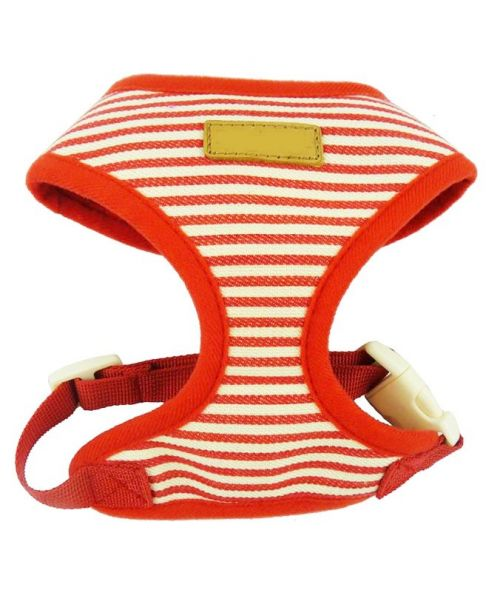 Jacket harness harness dog red striped marine store shop trend mouth d love
