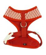 jacket harness for small dog size-red-and-white sailor chic and practical set