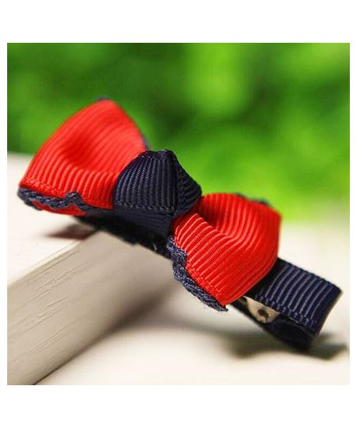 Red and blue hair clip for small dogs on sale at our fun online pet store