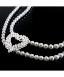 Collier de perles deux rangées de strass pour chiens et chats