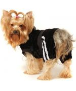 black jogging for dog velor chic very beautiful mouth of love