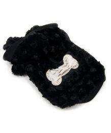 Manteau noir pour chiens douceur