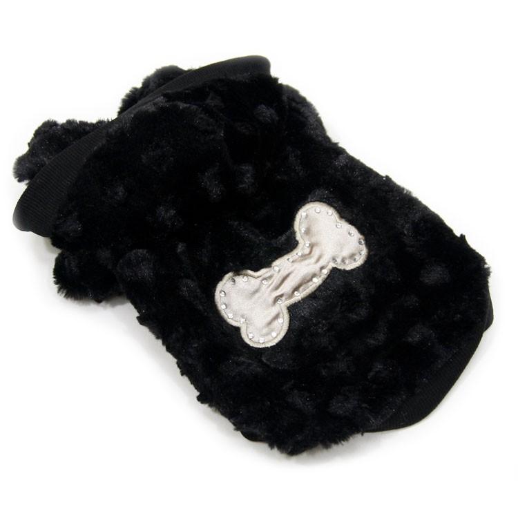 manteau chien noir tres doux et mignon capuche gueule d amour boutique mode animal fashion