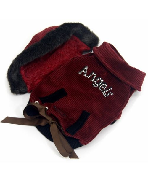 Jacket waterproof for big and small dogs to the snow, with fur ideal skiing holiday mouth d love