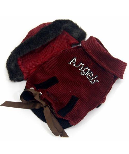Veste imperméable pour petit et grand chien pour la neige avec fourrure ideal vacances au ski gueule d amour
