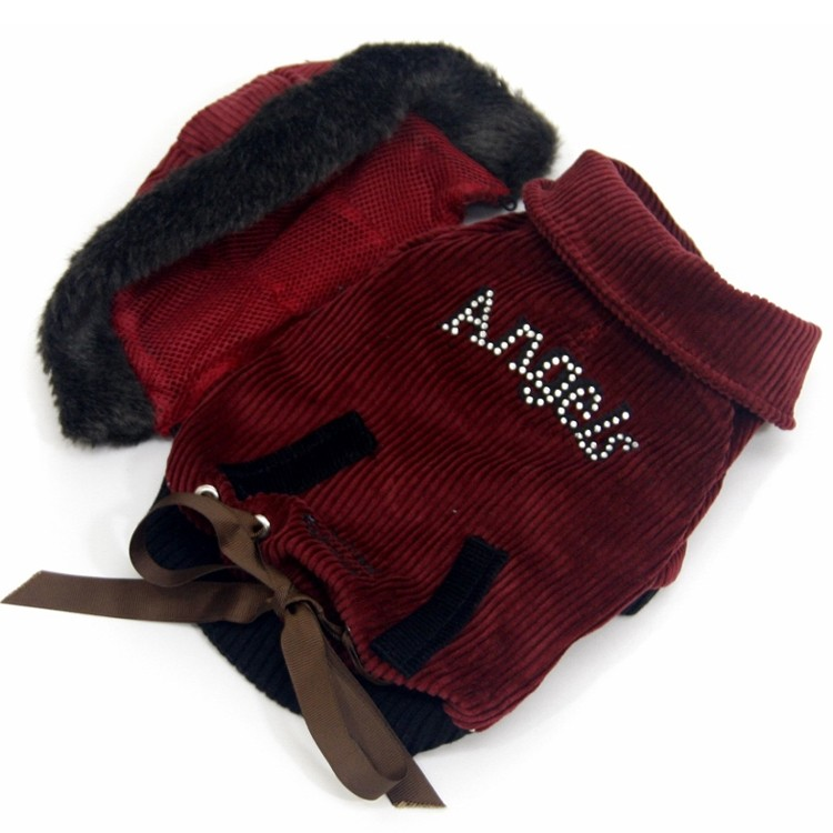 Waterproof jacket for small and large dogs for the snow with fur ideal ski holiday hangover of love