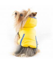 Manteau imperméable à capuche pour chiens jaune sportwear