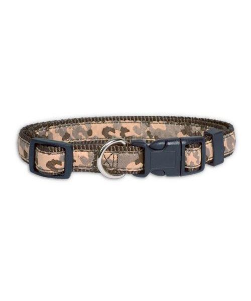 camouflage dog collar khaki for small medium dog large dog mouth of love