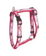 harnais-reglable-nylon-ecossais-rouge-chien-animalerie-tendance-mode-en-ligne.