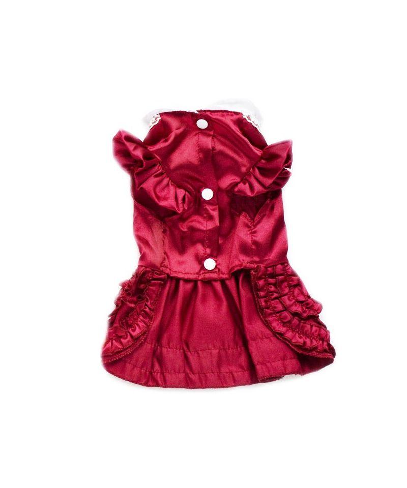 Robe pour chien pour mariage petit prix gueule d 39 amour for Robe de noel rouge