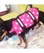 gilet de sauvetage à pois chien animaux gueule d amour boutique cadeaux animaux de compagnie