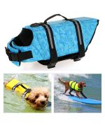 buy sky blue life jacket pets small big dog love mouth