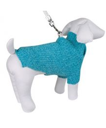 Wool sweater for dog, navy blue + scarf assorted