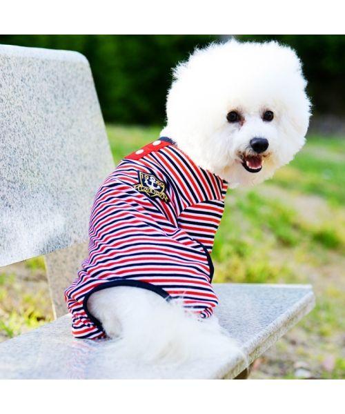 dog pajamas striped sailor style gueule d'amour boutique france