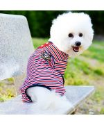 striped sailor style dog pajamas for the mouth of love boutique france