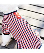 habit of night for dogs puppy striped sailor style gueule d'amour boutique france
