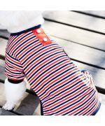 habit de nuit pour chiens chiots rayé marin style gueule d amour boutique france