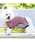 sleepsuit for dogs striped sailor style mouth of love boutique france