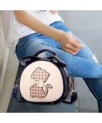 sac-a-main-kawaii-original-cute-blue-navy-beige-with-decoration-cat-kitten