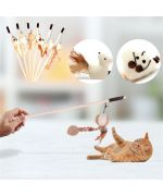 toy for little kitten funny fun with little mouse and twine expandable mouth of love france