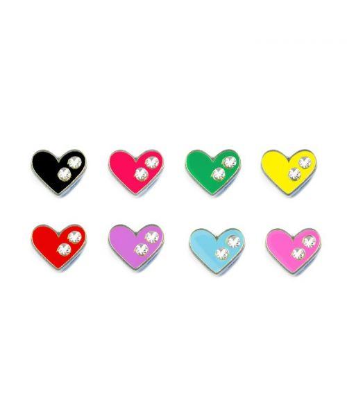 Coeur strass 10 mm pour collier et harnais personnalisable