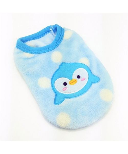 cheap dog clothes express delivery sweater for puppy blue fleece baby fast delivery