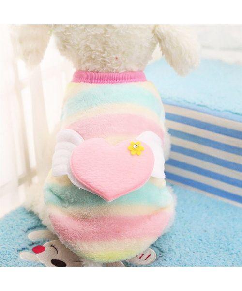 pull polaire pour chien pas cher arc en ciel coeur livraison gratuite Gueule d amour