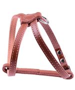 harness brown dog leather syynthetique able to high-quality robust durable cheap cute