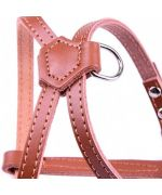 nice harness brown for small dog puppy cat free shipping