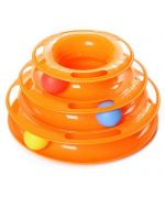 toy for cat with ball three level too funny orange