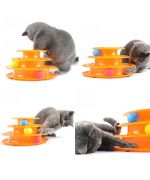 cats playing with balls and a very funny multi-story game. with spirals