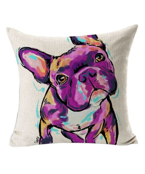 cushion bulldog French too cute for home interior modern design