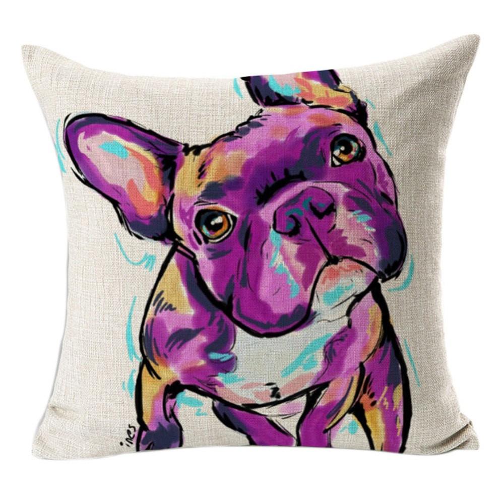 cushion bulldog French too cute for home interior modern design