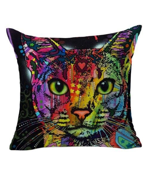cushion cat multicolor design for interior