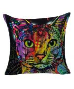 cushion cat multicolor design for interior