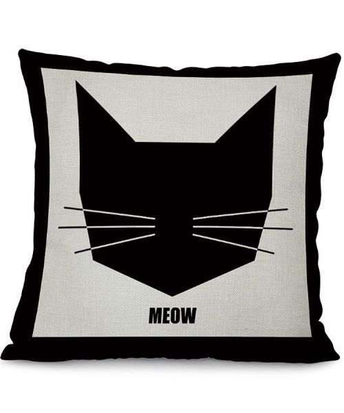 buy cushion cover model head cat original cheap