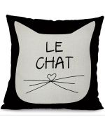 cushion black and white chic design cat head cheap