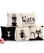 collection de coussins sur le theme du chat pour cadeau original