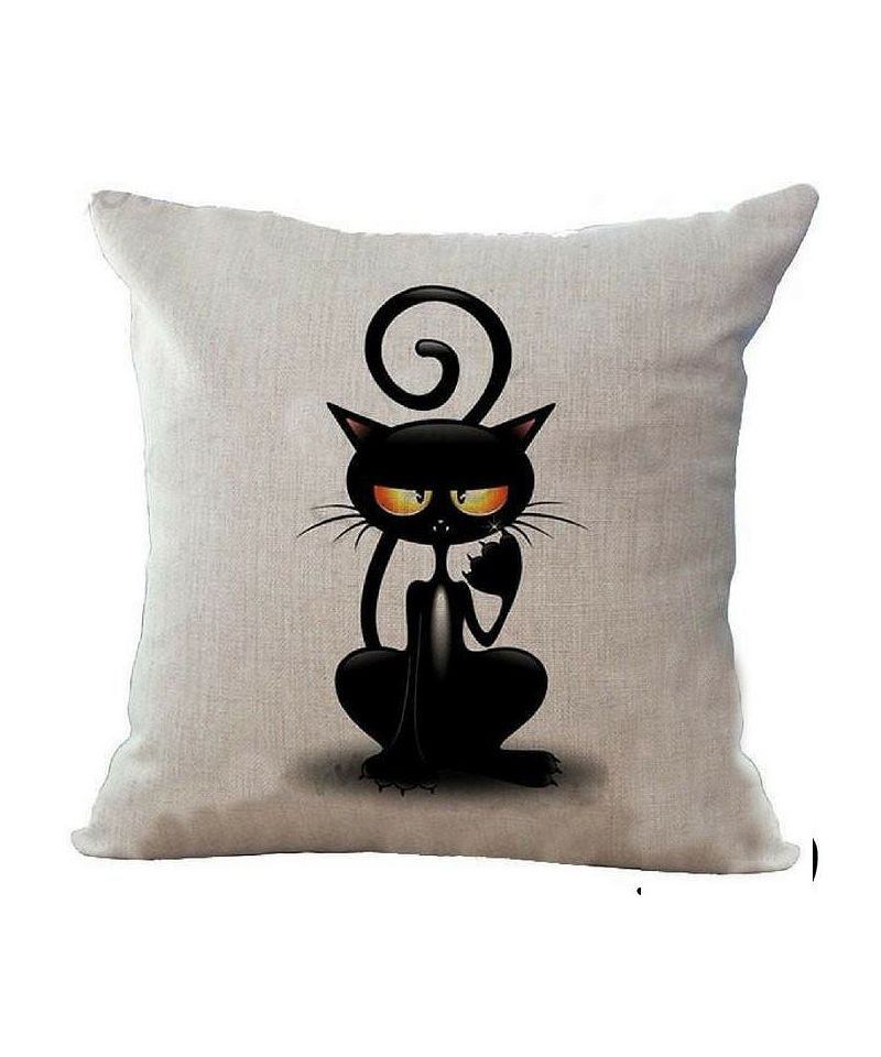 coussin mignon t te de chat original coussin chat original design. Black Bedroom Furniture Sets. Home Design Ideas