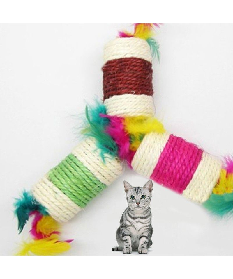 Sisal Cylinder Cat Toy