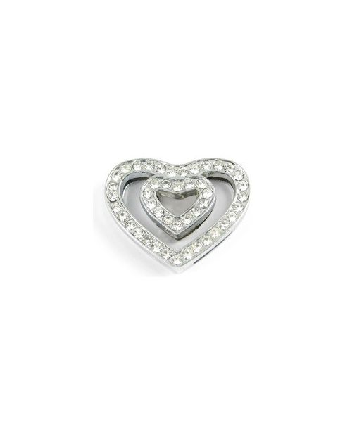 Heart rhinestone 18 mm for necklace bracelet customize, delivery to Paris, Lyon, Marseille, Neuilly, Vichy, Grenoble, Nancy..