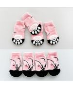 socks anti-slip for dogs and cats pink large breed