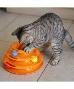 cat toy with balls too fun for kitten cat