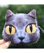 porte monnaie chat noir rigolo mignon livraison gratuite cadeau chat