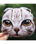 funny gray cat wallet unique original gifts on the theme of animals