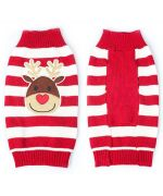 pull en laine rouge d'hiver noel pour chiens et chats
