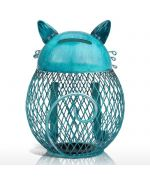 piggy bank cat wrought iron cute gift cat master passionate
