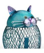 piggy bank cat wrought iron cute gift cat