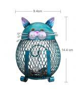 piggy bank cat wrought iron cute gift cat original