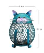 tirelire chat fer forgé mignonne cadeau chat original